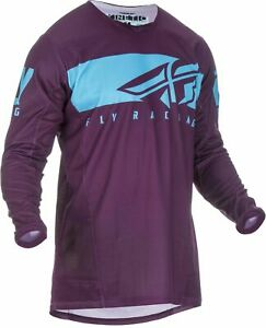 Fly 2019 Kinetic Shield MX Motocross Off Road Youth Jersey - Port / Light Blue