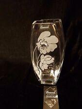 glass vase Valentine's Day + Swarovski Crystal & Sandblasted Gift present