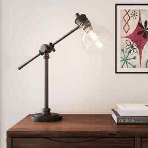 18.25 in. Oil Rubbed Bronze Counter Balance Desk Lamp by Hampton Bay