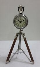 Table Clock 49 Bond Street London Table Clock On Tripod  Desk Clock Vintage Gift