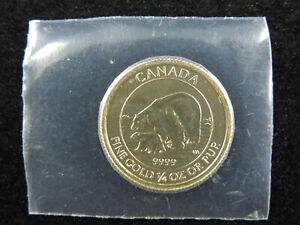 2015 1/4 oz $10 Gold Coin Polar Bear and Cub 99.99% Fine Au RCM Canada