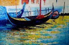 Seascape Oil Paint, Palette Knife, Rolf Harris Replica,Textured Canvas, Large,
