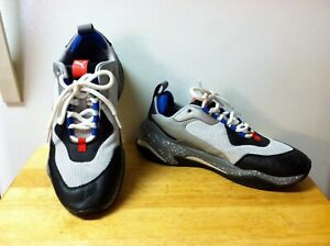 Men's Puma Sneakers Athletic Shoes Size 9 Low-Top Gray and Black