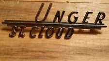 Unger--St. Cloud--Metal  Dealer Emblem Car  vintage