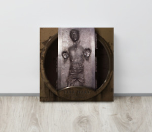 """12""""X12"""" Han Solo in Carbonite Star Wars HD Printed Canvas Poster With Wood Frame"""
