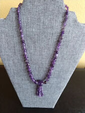 """Jay King Amethyst Tassel 18"""" Sterling Silver Necklace Retail With Tag"""
