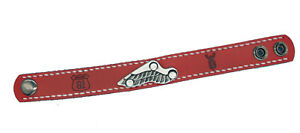 Hells Angels Support 81 Bracelet from Genuine Leather With Wing IN Red