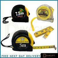 Retractable Measure Tape Metal 2x10 Metre Self Lock Imperial Measuring Metres Ft