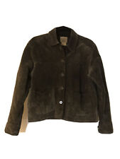 AMI Leather Jacket Mens Size Small Light Brown