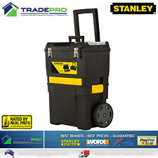 Stanley® Tool Chest Box 3in1 Mobile with Wheels Large Lockable Roller Storage