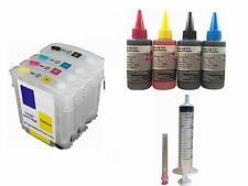 4 refillable ink cartridge kit for hp 940 940xl hp 8000 8500a plus 4x100ml