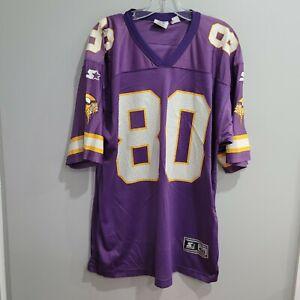 VTG 90s Starter Minnesota Vikings Cris Carter 80 NFL Football Jersey Mens 48 L