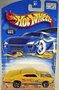 2001 Hot Wheels #92 Hippie Mobiles Series 4/4 '67 PONTIAC GTO Yellow w/5 Spokes