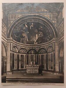 foto antica alinari firenze basilica san miniato al monte - abside anno 1890 ca