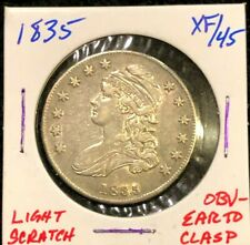 1835 Us Silver Capped Bust Half Dollar 50c Ef Xf Au