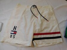 "Tommy Hilfiger Men's Swim Trunks Shorts Board 6.5"" Inseam L 78D4041 118 White"