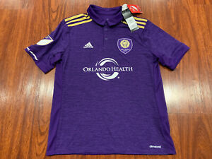 2017-18 Adidas Youth Orlando City SC Home Soccer Jersey Large L MLS US Boys