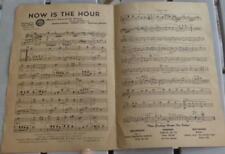Vintage Sheet Music - Now Is The Hour - 1947 - GOOD CONDITION - GREAT OLD MUSIC