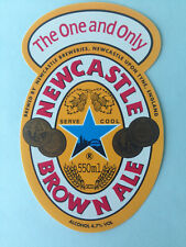 Vintage NEWCASTLE BROWN ALE 550ml beer bottle label The One and Only breweries