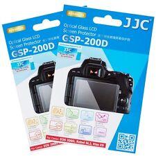 JJC 2PCS Glass Screen Film Protector for CANON EOS RP 200D Rebel SL3 Kiss X10