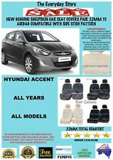 Hyundai Accent All Years Genuine Sheepskin Car Seat Covers Pair 22MM Airbag Safe