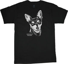 Miniature Pinscher shirt dog breed t-shirt men's t-shirt black tee white design