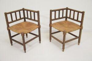 2 Armchairs Art Deco - Wood Turned - Vintage - Years 30/40 - Design Brutalist