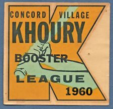 Window/Travel DECAL CONCORD VILLAGE, Missouri MO KHOURY LEAGUE BOOSTER Unused VG