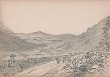 Paisaje cerca mulranny mayo Irlanda Victoriano Acuarela Pintura 1903