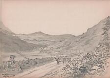 LANDSCAPE NEAR MULRANNY MAYO IRELAND Victorian Watercolour Painting 1903