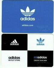 Adidas Gift Card LOT of 2 - Blue Background & Black and White Blocks - No Value