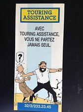 Dépliant Tintin Touring assistance 1992 ETAT NEUF