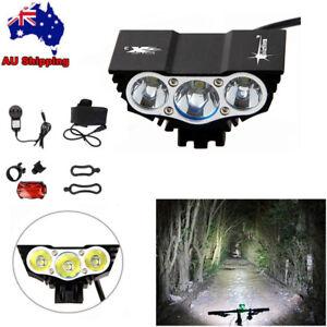 SolarStorm 20000LM X2 X3 XML T6 LED Bike Bicycle MTB Head Light Lamp Rear Light