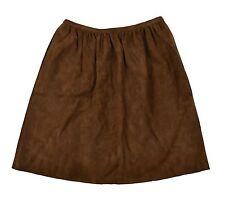 Ralph Lauren Purple Label Brown Suede Leather Skirt 8 New $1998