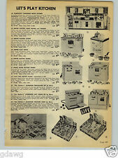 1954 PAPER AD Toy Empire Electric Stove Oven Range Little Chef Like Mother's