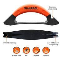 3-In-1 Knife, Axe Hatchet Machete & Scissors Sharpening Garden Tool Sharpener