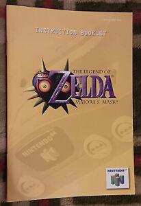 Official vintage Legend of Zelda Majora's Mask instruction manual booklet N64