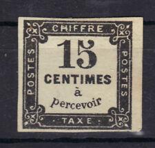 TAXE n°4  signé CALVES 15c NOIR BDF Litho  1863-1870 NEUF* Gomme