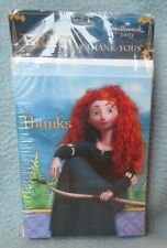8 DISNEY BRAVE THANK YOU CARDS Princess Merida Hallmark