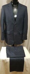 Size 100 / 86 OXFORD mens cotton lightweight 2 button summer suit charcoal