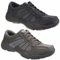 Skechers Larson Nerick Mens Memory Foam Leather Sports Trainers Shoes UK6-12