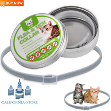 Adjustable Cat Flea and Tick Collar for Cat 8 Month Protection Treatment