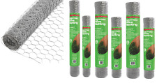 Galvanised Wire Netting Mesh Aviary Fencing Fence Chicken Rabbit 13mm 25mm 50mm