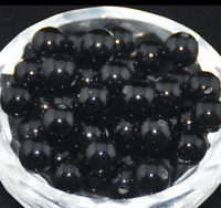 Wholesale Black Onyx Round Beads Gemstone Natural Findings Charms Bracelets DIY