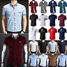 Stylish Men's Business Button Up Slim Fit Dress Shirts Short Sleeve Tops T-Shirt