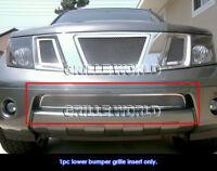 Fits 2005-2020 Nissan Frontier/05-07 Pathfinder Bumper Mesh Billet Grille Insert