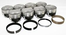 "Sealed Power Chevy 350 4.040"" .125 Domed Pistons & Moly Rings Kit SBC H618CP40"