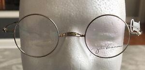 John Lennon Brand Silver Eyeglasses Frames Men Woman Round Metal 42-25-135 NEW