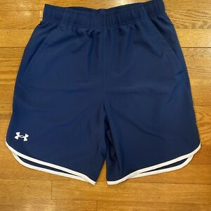 Under Armour Women sport shorts with pockets Size M Blue