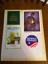vintage Sticker lot GREMLINS Mondale/Ferraro MICHAEL JACKSON Kermit The Frog